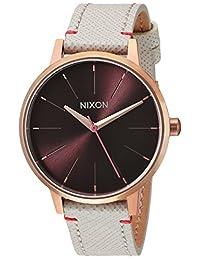 Nixon Women's 'Kensington Leather' Quartz Stainless Steel Casual Watch, Color:Champagne (Model: A1081890-00)
