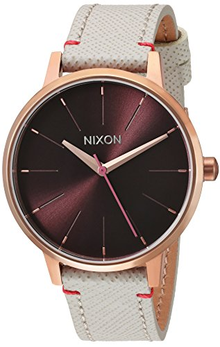 nixon-womens-kensington-leather-quartz-stainless-steel-casual-watch-colorchampagne-model-a1081890-00