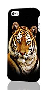 Tiger Custom Diy Unique Image Durable 3D Case Iphone 4 4S Hard Case Cover