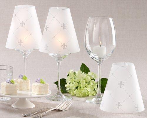 Fleur de Lis Vellum Shade Set of 24 (Kate Aspen Glass Candle)