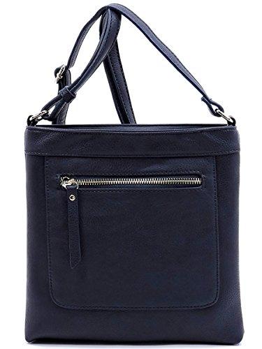 by Bag Metal Fashion Zipper Sea with Glad Crossbody Deep IwUFHxqx