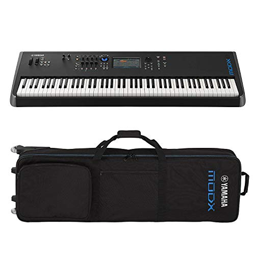 Yamaha MODX8 88-Key Semi-Weighted Action Keyboard Synthesizer with Yamaha MODX8 Gig Bag