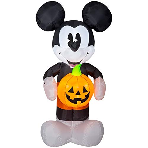Mickey Mouse and Pumpkin Halloween Decoration Inflatable 5 Feet