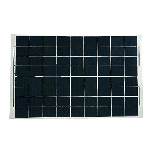 Fesjoy 30 Watts 12 Volts Semi Flexible Solar Panel Kits Device Battery Charger High Conversion Efficiency Suitable for Small Power Appliances