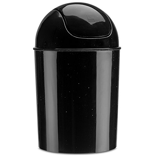 Umbra Mini Waste Can, 1-1/2 Gallon with Swing Lid (Galaxy)