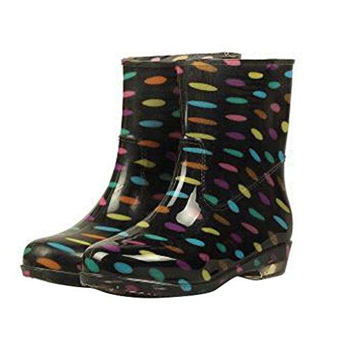 Lieve Tijd Vrouwen Middenkalf Regen Laarzen Kleur Stippen