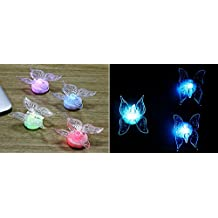 Napoo 5 Pcs Dragonfly Butterfly LED Lights 3D Wall Stickers For House Decoration Bedroom (A)