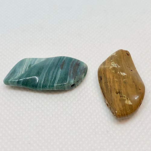 Beads Ocean Jasper Rectangle - Ocean Jasper Wavy Pendant Beads - Assorted Colors 31x16x5mm 6857E