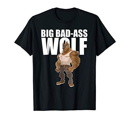 (Big Bad-Ass Wolf T-Shirt- Easy Halloween Costume)