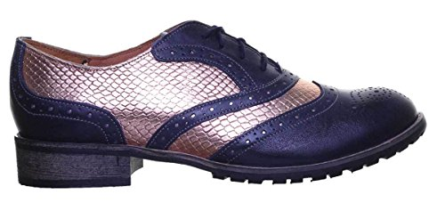 Sole Leather Justin up Lace 40 EU Womens All Brogues Rubber Navyrosegold Reece n0qr0w6X