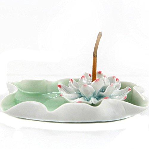 Nsstar Lotus / Water Lily Flower Ceramic Incense Holder / Burner/ashtray (Pink)