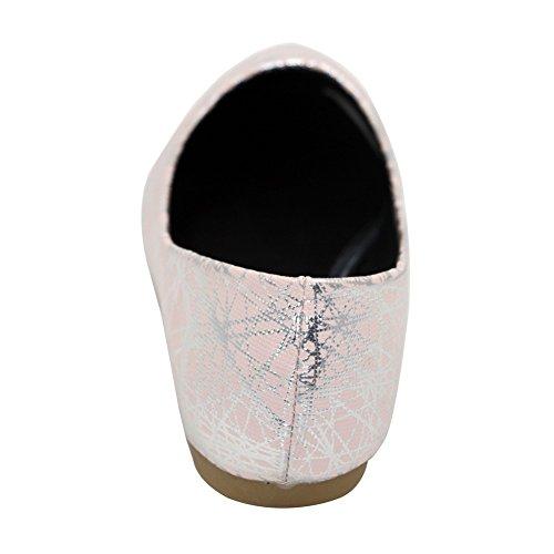 Aalardom Donna Materiale Morbido Scarpe A Punta Piatte Con Punta Arrotondata E Senza Tacco Colore Rosa