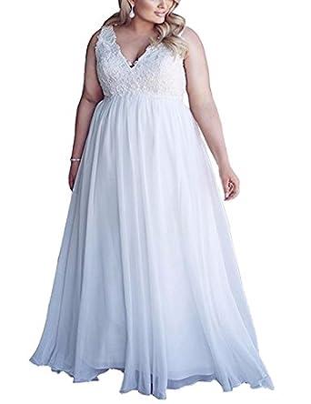 Amazon Chic Maternity Wedding Dresses For Bride Plus Size White