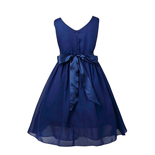 iiniim V Neck Chiffon Flower Girl Summer Princess Wedding Dance Prom Gown Party Dress