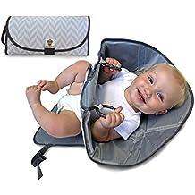 [Patrocinado] Cambiador portátil SnoofyBee manos limpias 3 en 1, se dobla en forma de bolsa, cambiador, superficie de juegos, con barrera para usar con bebés e infantes