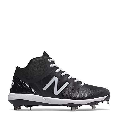 New Balance Men's 4040v5 Metal Baseball Shoe, Black, 11 XW US