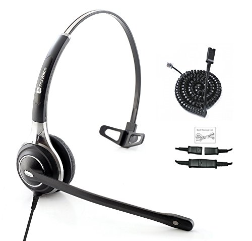 (Premium Single Ear Ultra Noise Canceling Microphone Headset & Adapter for All Cisco 6000, 7800 and 8000 Series Phones and Also Models 7931 7940 7941 7942 7945 7960 7961 7962 7965 7970 7975)
