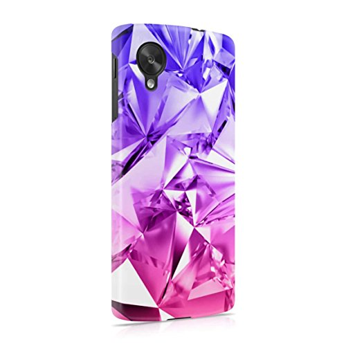 Purple Iridescent Foil Ombre Hard Plastic Phone Case For LG Google Nexus 5