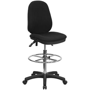 Amazoncom Flash Furniture Black Multifunction Ergonomic Drafting