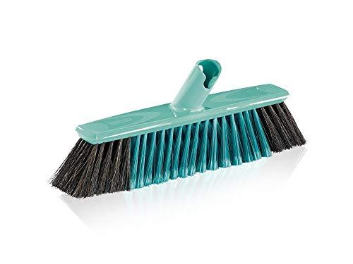 Leifheit Parket bezem Xtra Clean 30 cm met X-borstels, veegborstel met borstelharen van zacht natuurlijk haar, bezem met…