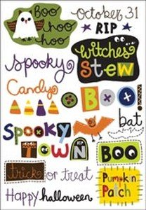 Imaginisce Spooky Town Rub-Ons 5 X7 Sheet-Witches' Stew Words -