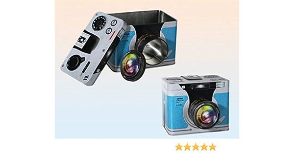 Caja Metálica Retro Cámara Fotográfica: Amazon.es: Hogar
