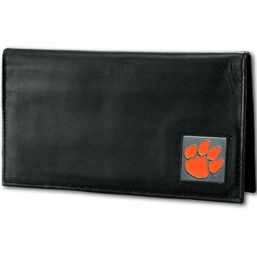 NCAA Clemson Tigers Deluxe Leather Checkbook Cover