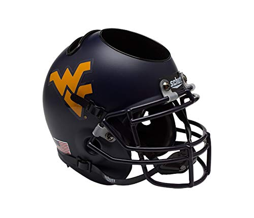 West Virginia Helmet - NCAA West Virginia Mountaineers Mini Helmet Desk Caddy