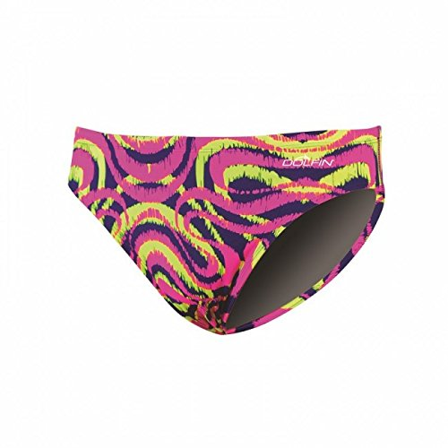 - DOLFIN Winners Prints Male Racer - Pink/Yellow,Mirage Pink/Yellow (594),26
