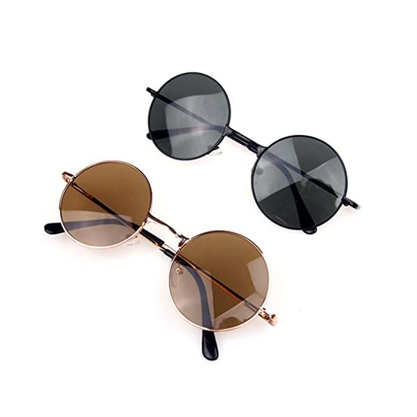 M-Egal Classic Goggles Steampunk Sunglasses Men Retro Round Glasses Eyes Wear 3