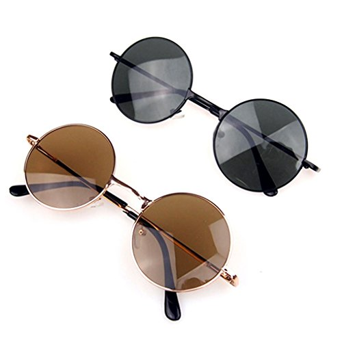 M-Egal Classic Goggles Steampunk Sunglasses Men Retro Round Glasses Eyes Wear