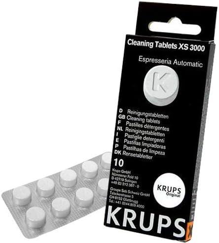 Krups XS300010 Pastillas limpiadoras para máquinas de café súper automáticas, pack de 10 pastillas, Elimina depósitos y los residuos grasos del café: Amazon.es: Hogar