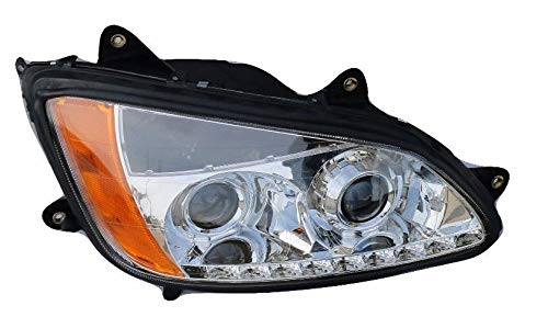 Kenworth T660 T700 Headlight Projector with Led Stripe Passenger Side 2008-2016 ()