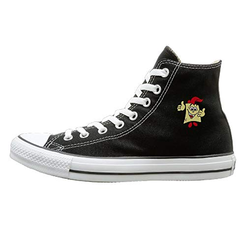 Sakanpo SpongeBob Canvas Shoes High Top Casual Black Sneakers Unisex Style 40