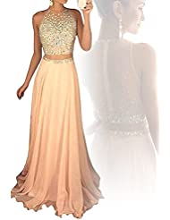 Icy Sun Womens Long Two Piece Prom Homecoming Dresses With Bodice Evening Gowns IS079