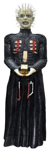 [Pinhead Prop Greeter Hellraiser with Elements Halloween Prop Haunted House] (Halloween Animatronics)