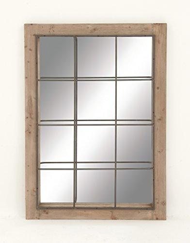 "Deco 79 44376 Wood/Metal Wall Mirror, 36"" x 52"""