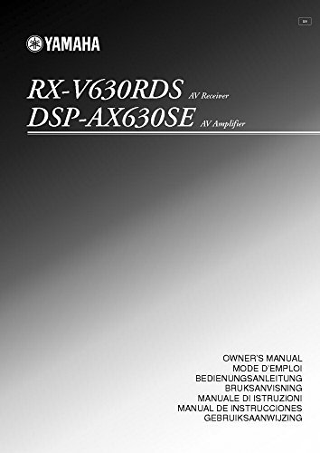 Price comparison product image Yamaha RX-V477 RX-V577 Receiver Owners Manual [Plastic Comb] [Jan 01, 1900] Misc