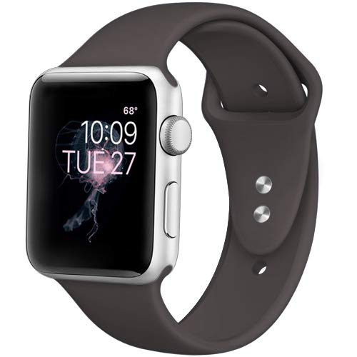 DaQin Band Compatible with Apple Watch 38/40mm, Sport Replacement Bands for iWatch Series 3 Series 2 Series 1, Dark Brown, S/M