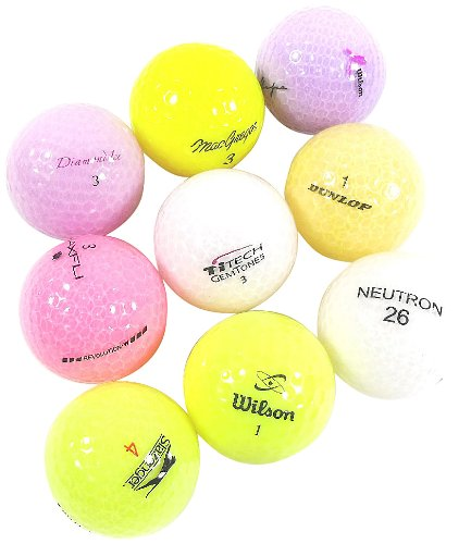 Varias marcas de pelotas de golf recicladas de mezcla translúcida (36 unidades)