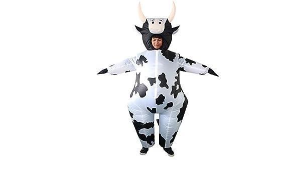 ypyrhh Traje Hinchable, Cosplay de Vaca de Navidad Viste ...