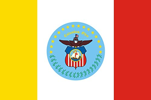 Columbus Flag Ohio - magFlags Large Flag English Flag of the city of Columbus, Ohio, USA | landscape flag | 1.35qm | 14.5sqft | 90x150cm | 3x5ft -- 100% Made in Germany -- long lasting outdoor flag