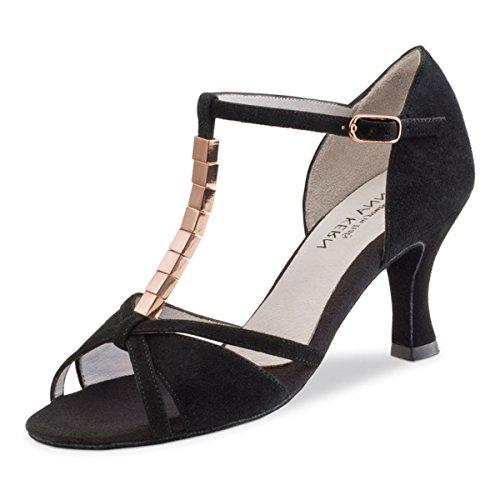 Anna Kern - Mujeres Zapatos de Baile 690-60 - Ante Negro - 6 cm Negro