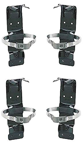 Kidde 420119 PRO 340 Fire Extinguisher Metal Bracket, Heavy Duty, Compatible with Kidde 5-Pound Fire Extinguishers 4 Pack (4)