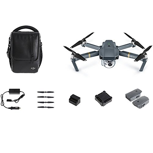 DJI Mavic Pro Fly More Combo: Foldable Propeller Quadcopter Drone Kit with Remote, 3...