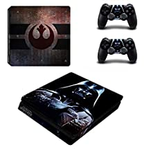 Adventure Games - PS4 SLIM - Star Wars, Imperial Vader - Playstation 4 Vinyl Console Skin Decal Sticker + 2 Controller Skins Set
