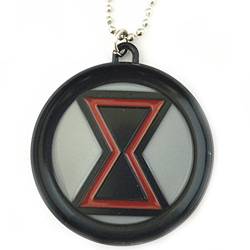 Athena Brands Marvel Comics Black Widow Logo 18 Inch Necklace Gift Box -