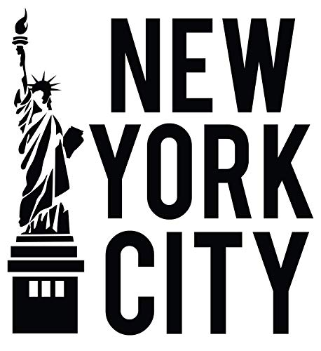 4 All Times New York City Automotive Car Decal for Cars, Trucks, Laptops (5.0