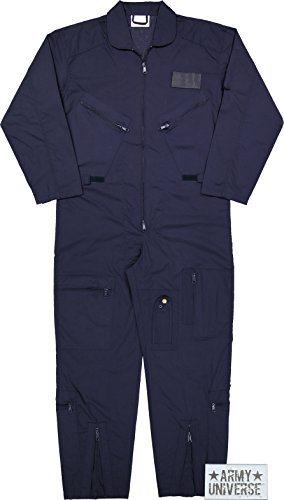 (Army Universe Air Force Flight Suits, US Military Type Coveralls, Uniform Overalls/Jumpsuits Pin (Navy Blue, Large))