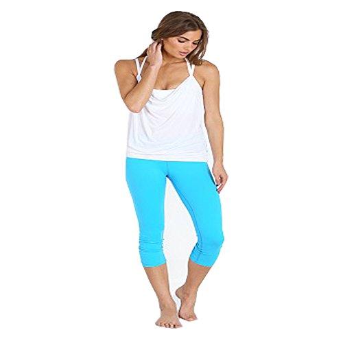 Beyond Yoga Women's Back Gathered Legging (Turquoise Tide,XS)